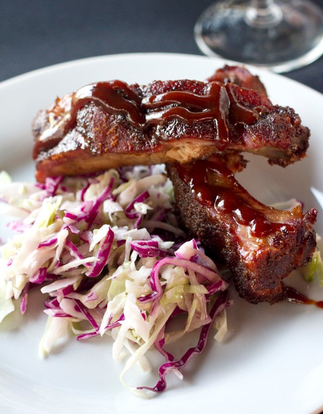 Dry Rub BBQ RIbs with Cole Slaw A Guerilla Cuisine Event by Jimi Hatt