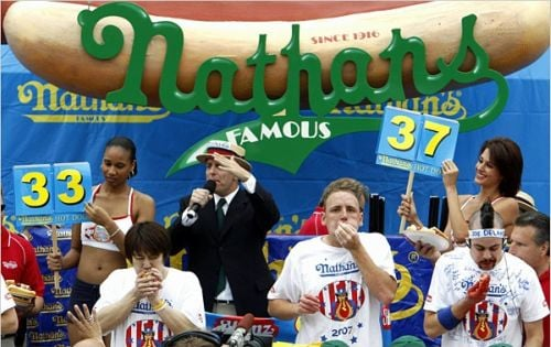 Nathans Hotdog Eating Contest Nathans Hot Dog Eating Contest for Freedom Day