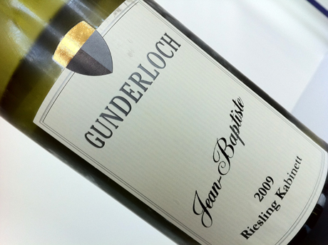 Gunderloch 2009 Riesling Kabinett from Rheinhessen Germany Close up Riesling Style: Light And Gorgeous Kabinett