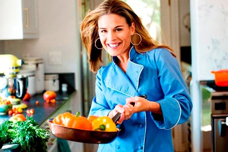 Chef Cat Cora Image via myconfinedspace.com  Sexy Cooking Celebrities: Cat Cora