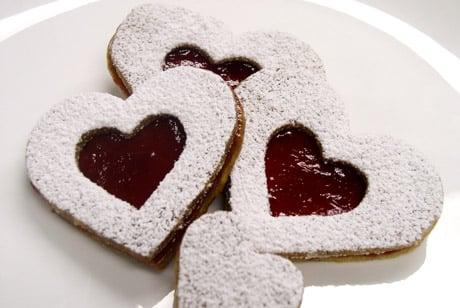 Heart Shaped Linzer Cookie by Chef Hwang 2011 Pastry Chef of the Year Alex Hwang Valentine's Day Treats