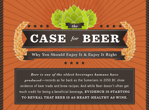 The Case of Beer Infographic The Case for Beer: Why You Should Enjoy it and Enjoy it Right (Infographic)