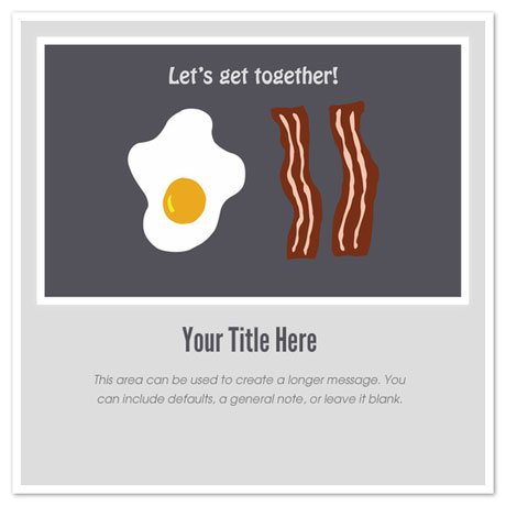 Bacon and Egg Free Foodie Valentines Day Cards