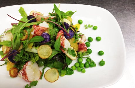 Greenmarket Salad with Lobster Chef's Summer Recipes: Herve Maliverts Greenmarket Salad with Lobster
