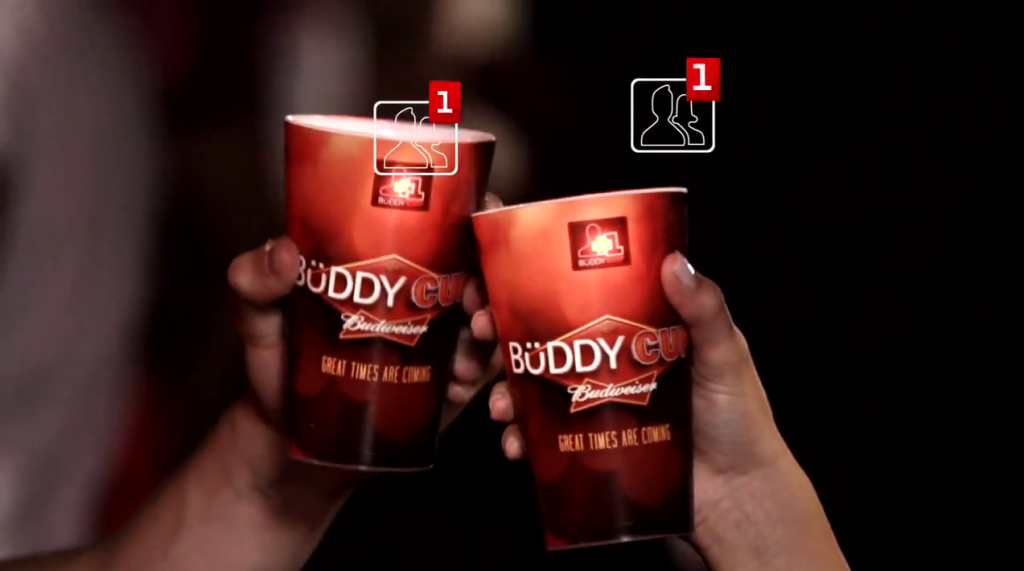 "Budweiser's Creepy New ""Buddy Cup"" Connects Drinkers on Facebook"