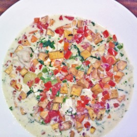 Coconut Seafood Chowder Recipe by Chef Mary Kay Bader of Maya Beach Bistro in Belize