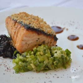Korean BBQ Salmon Recipe by Chef Mike Mueller of Cafe and Bar Lurcat in Naples Florida