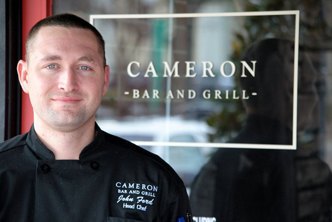 Chef John Ford of Cameron Bar and Grill in Raleigh North Carolina