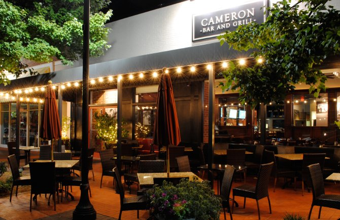 Facade of Cameron Bar and Grill in Raleigh North Carolina