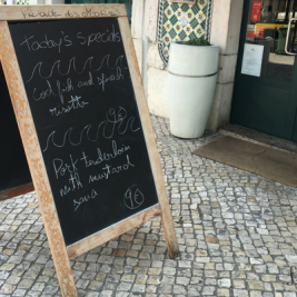 Cheap lunch in the Santos neighborhood of Lisbon