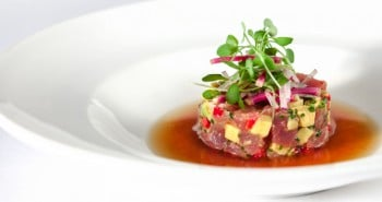 Albacore Tuna Crudo Recipe by Chef Victor Boroda of Esterel Restaurant-in-Beverly Hills California