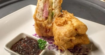 Battered Monte Cristo Sandwich from Maya Beach Hotel Bistro in Belize