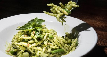 Pesto Pasta from da Tommy Osteria in West Village New York