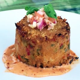 Mirliton Crab Cake recipe from Harold's Restaurant Bar and Terrace in Houston Texas